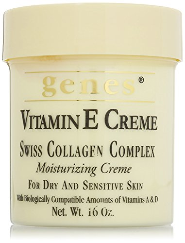 Vitamin E Creme for dry and sensitive skin 16 oz, – Family 3 pack! (Genes – Swiss Collagen Complex) For Sale