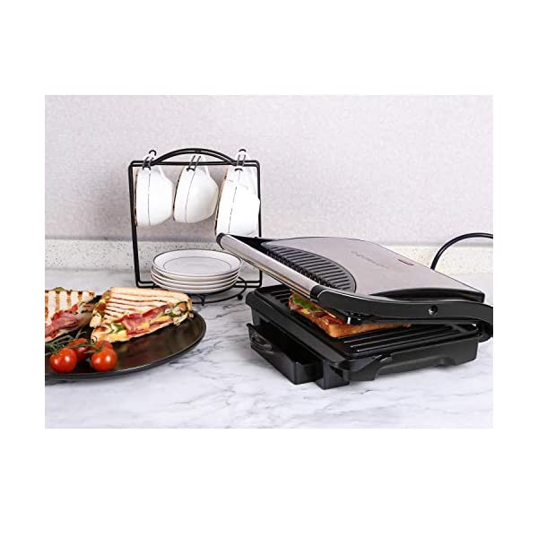 Aigostar Hett 30HHJ - Panini Maker/Griglia, Pressa a sandwich, Griglia elettrica, 1000 Watt, Fredda al tocco… 3