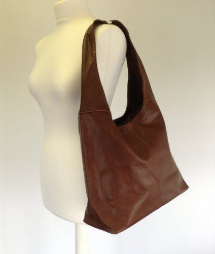 Chestnut Brown Soft Italian Leather Handbag, Shoulder Bag or ...
