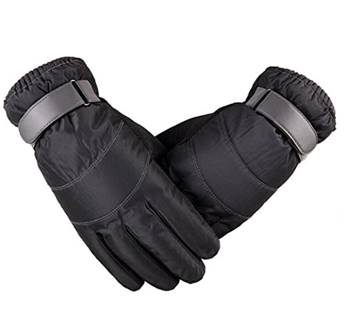 - JOYEBUY Men Warm Winter Windproof Waterproof Gloves Touchscreen Cold Weather Outdoor Ski Gloves (Grey)