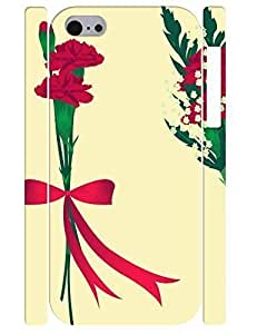 3D Print Special Elegant Flower Bow Rugged Phone Dust Proof Case for Iphone 5C