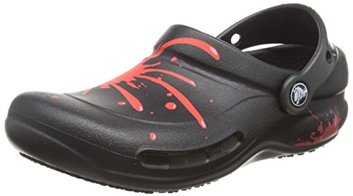 Crocs Unisex Bistro Graphic Work Clogs Black/Pepper