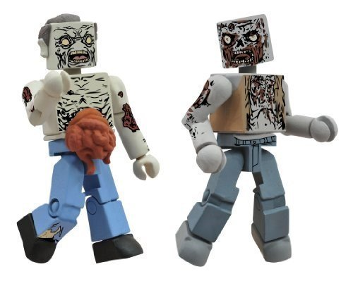 Diamond Select Toys Walking Dead Minimates Series 1: Herd Zombies, 2-Pack by Diamond Select