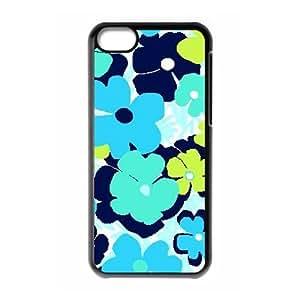 Blue Flowers Custom Cover Case for Iphone 5C,diy phone case ygtg612453