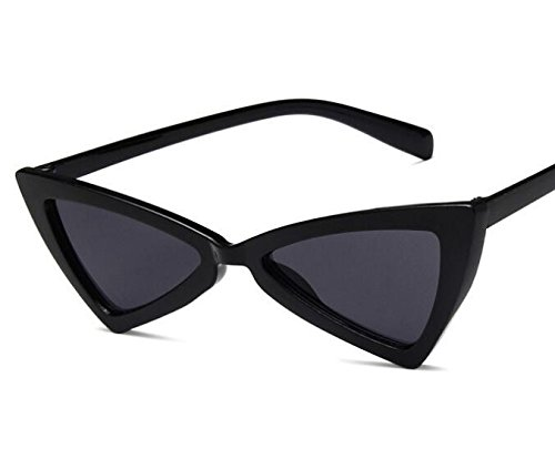 para UV400 Color Negro Mujer Gafas Triangulares Sol Godlife de p1XxOdw