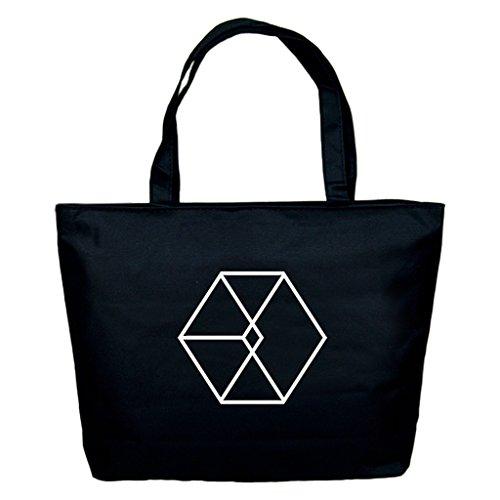 Fanstown Kpop Shoulder Bag Canvas Messenger Bag EXO Shinee BTS VIXX Fan Support EXO5 -