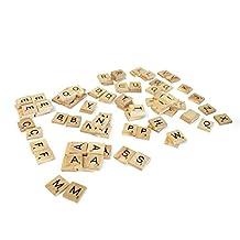 Allure Maek 300pcs Wood Letters Scrabble Tiles,3 Complete Sets,Tile Games,Wood Pieces,Great for Crafts