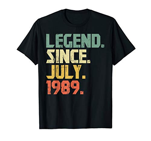 Legend Since July 1989 T-Shirt Gift Born In 1989 Gift