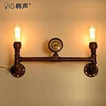 ShengYe Modern Vintage Sconce Wall Light Wall Lamp Bed mirror front wall lamp living room aisle balcony courtyard stair industrial wind loft retro restaurant wall lamp (60 * 34cm)
