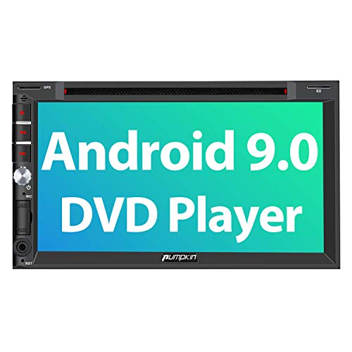PUMPKIN Android 9.0 Double Din Car Stereo with DVD Player, GPS, WiFi, Fastboot, Support Backup Camera, Android Auto, AUX, 7 Inch Touch Screen in USA