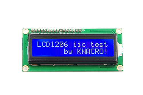 KNACRO IIC I2C TWI 1602 Serial Blue Backlight LCD Module for Arduino UNO R3 MEGA2560 16 X 2, LCD1602 White Letters on Blue Display (1602, Blue)