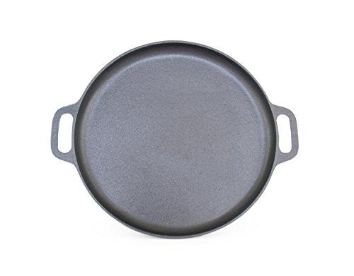ForHauz Pre-Seasoned Cast-Iron Griddle/Pizza Pan, 14