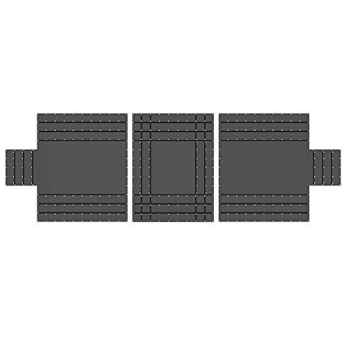 (US Cargo Control 14 oz. 3 Pc. Lumber Tarp - Ends: 24' x 20' (8' Drop); Mid: 24' x 18' - Black)
