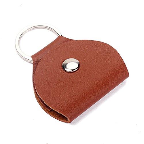 Keychain Gitarre Halter Pickholder Plektrumhalter Plektrenhalter Neu Picks Leder-braun