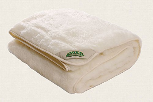 Natura Reversible Wool on Top Mattress Pad - Twin