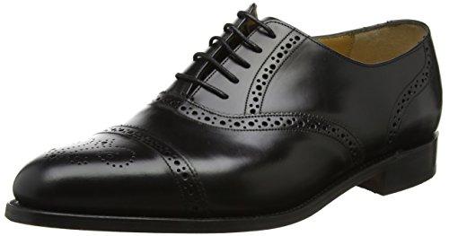 BARKER Alfred, Scarpe Stringate Oxford Uomo Black (Black Hi-shine)