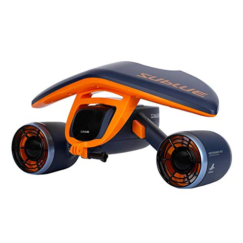 SUBLUE WhiteShark Mix Underwater Scooter with Action Camera Mount Dual Motor 40M Waterproof Electric Scooter for Water Sports Diving & Snorkeling & Sea Adventures from SUBLUE