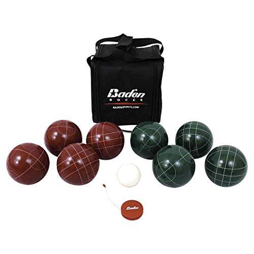 Baden Champions 107mm Bocce Ball Set with Carry Case and Measuring Tape