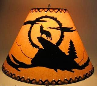 18 Inch Wide x 12 Inch High Coyote Rustic Lamp Shade.Click on Photos to View Sizing and Style Options