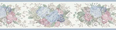 Brewster 418B310 Borders and More Silky Floral Wall Border, 6.75-Inch by 180-Inch