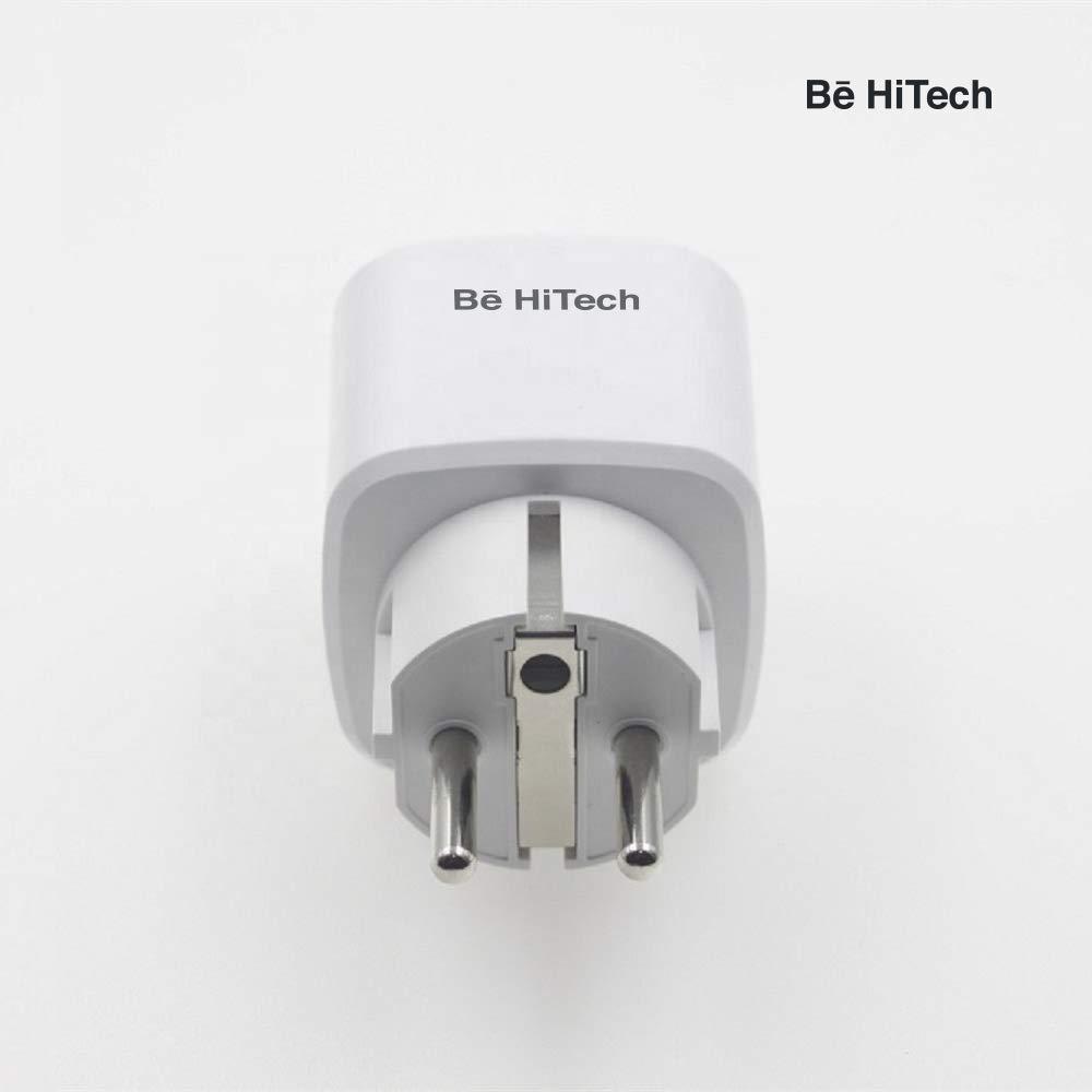 1 Presa Intelligente WiFi Smart Plug Spina Energy Monitor Compatibile con Google Home// Alexa//IFTTT,BE HI-TECH Controllo Remoto Funzione di Temporizzazione 1 Presa Wireless per iOS Android App