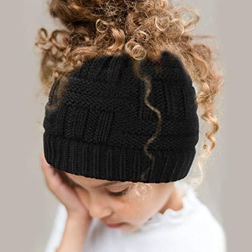 07a6079d2c0 Dafunna Women Ponytail Beanie Hats Winter Soft Knit Warm Hat High Bun Beanie  Tail Cap