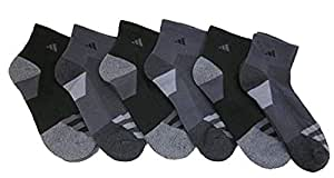 Adidas Athletic Quarter - Calcetines (6 unidades), Black/Carbon/Greys, Zapato: 6-12 US