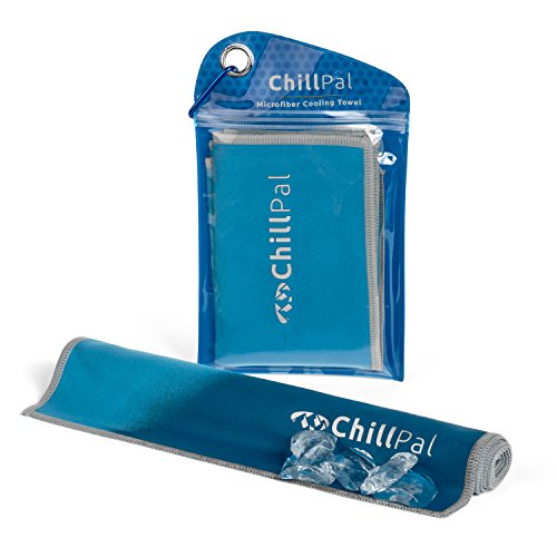 Chill Pal Microfiber Cooling Towel (Blue, 12 x 32 inch)