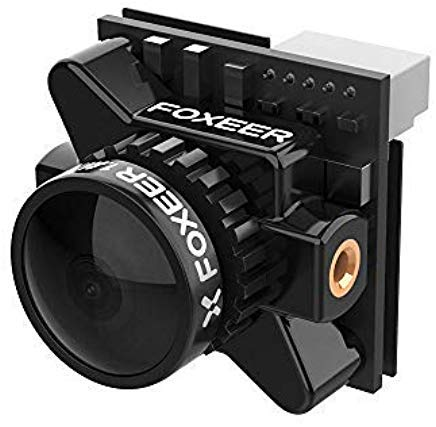 NIDICI FOXEER Falkor Micro 1200TVL 1.8mm FPV Camera 16:9/4:3 PAL/NTSC Switchable GWDR OSD for FPV Racing Quadcopter Drone Black