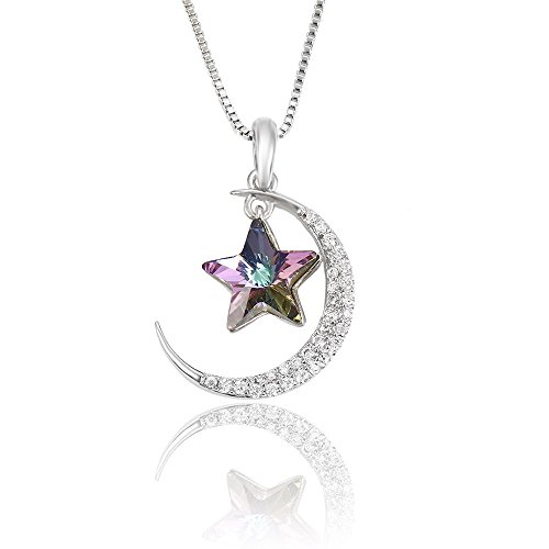 """Price comparison product image Xuping """"Moon and Star"""" Jewelry Pendant Necklace Made with Crystals from Swarovski Women Christmas GiftM4-41515(Light Purple)"""