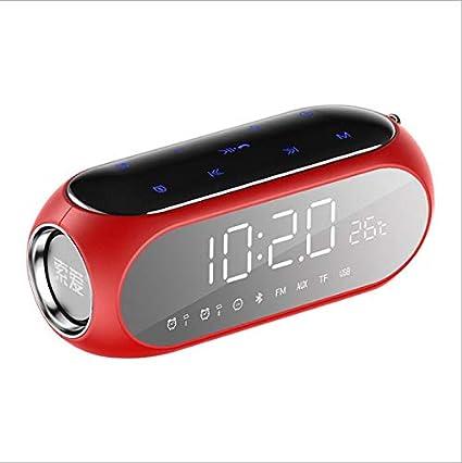 Amazon.com: Bluetooth Speaker Digital Alarm Clock Mini ...