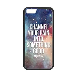 Diy Life Is Beautiful Quotes Phone Case Cover For Apple Iphone 6 Plus 5.5 Inch Black Shell Phone JFLIFE(TM)