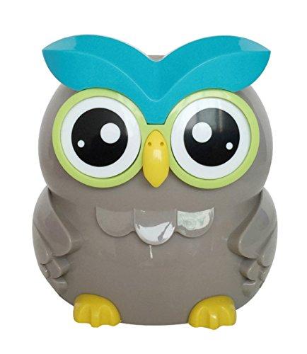 UK STERLING COIN OWL SMART PIGGY BANK DIGITAL COIN BANK LCD SCREEN MONEY BOX JAR (GREY)