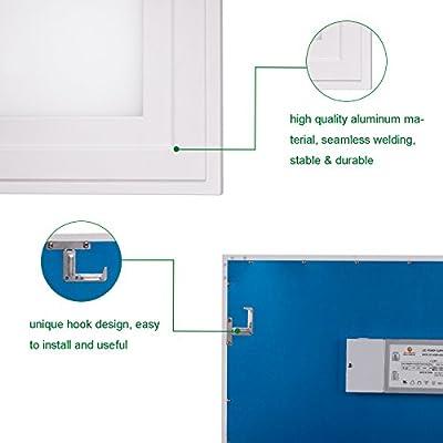 Cortelco LED Panel Light, Troffer Drop Ceiling Flat Panel Light 2x2FT, Dimmable 0-10V Edge-Lit Light Fixture, 36W, 4680Lumens, 5000K, DLC&UL Listed, 2 Pack