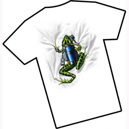 A O OUTFITTERS Amphibious Outfitters Scuba Frog Dive T Shirt S White