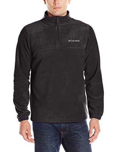 Men Pullover (Columbia Men's Steens Mountain Half Zip Pullover Fleece, Black, Medium)