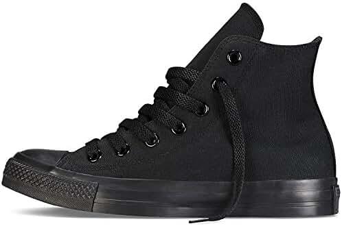 Karmaloop Converse The Chuck Taylor All Star Core Hi Sneaker Black (5.5 D(M) US, Black Monochrome)