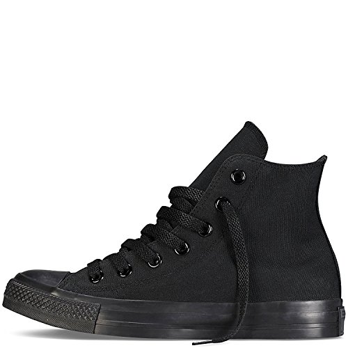 Converse Unisex Chuck Taylor All Star High Top Sneakers (12 D(M) US, Black Monochrome)