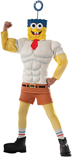 Spongebob Halloween Costume (Rubie's Costume SpongeBob Movie Muscle Chest Child Costume, Medium)