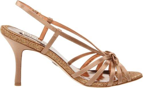 Badgley Mischka Womens Wright Sandalo Con Tacco Naturale