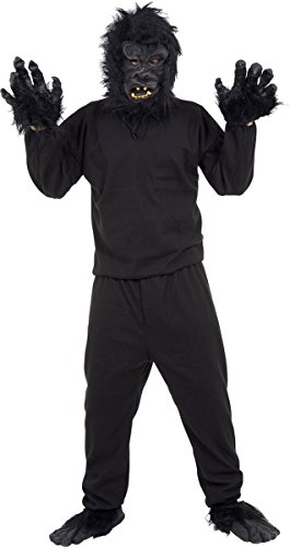 Adults Animals Ape Chimp Fancy Halloween Dress Party Complete Gorilla Outfit