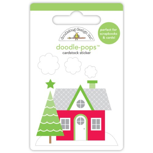 Home For The Holidays Doodle-Pops 3-D Stickers-Holiday ()
