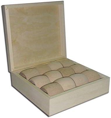PD33) signicase madera caja con 12 anillos de servilleta (4,9 cm) - 169 x 142 x 55 mm caja: Amazon.es: Hogar