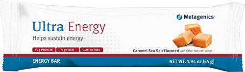 Metagenics - Ultra Energy - Caramel Sea Salt Flavored 1.94 oz Bar, 12 - Flavored Bar