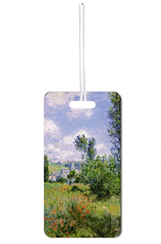 Claude Monet's View of Vetehuile Print Design Lea Elliot Set of 5 Luggage Tags with Customizable (5 Piece Set Medium Arch)