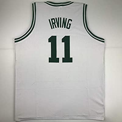 pretty nice ba94f 734c0 Unsigned Kyrie Irving Boston White Custom Stitched ...