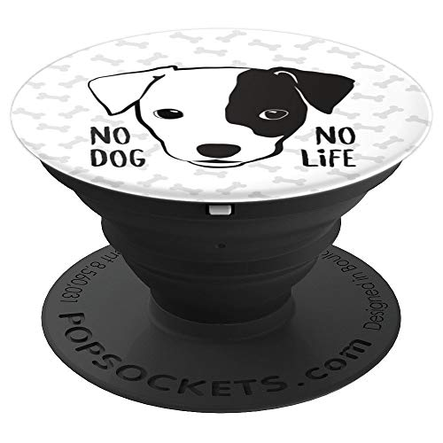 Jack Russell Terrier face cute black and white pet gift - PopSockets Grip and Stand for Phones and Tablets