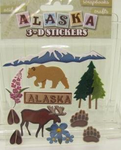 Alaska Dimensional Scrapbook Stickers (05510)