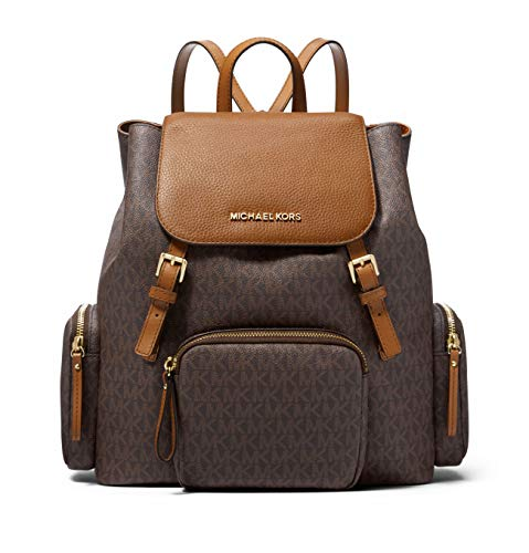 Michael Kors Abbey Large Signature Cargo Backpack (Brown/Acorn)