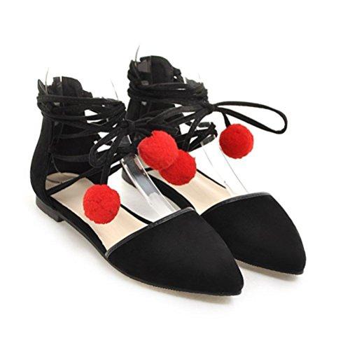 XIE Femmes Chaussures Shallow Bouche Talon Plat Instep Bande Élastique Quotidien Étudiant Taille Code 33-44 Printemps Et Été Chaussures simples pink gxTyVfM2cF